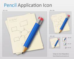 Pencil Application Icon by shlyapnikova