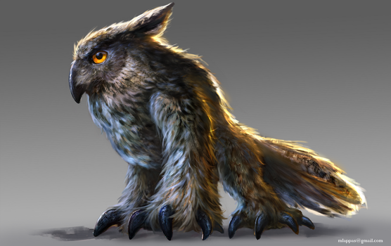 Owlbear-Commission by mlappas