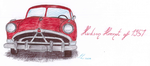 ~Hudson Hornet of 1951 in Red AT by UnicornCat