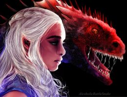 Dany and Drogon by Ysenna