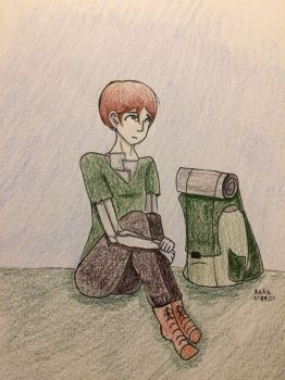 Timothy the Backpacker by PossiblyMaybeMe