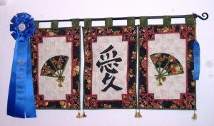 3 panel Asian wallhanging by DobbyQuiltElf