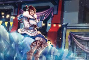 Overwatch Mei Icy Night by RanqiLi