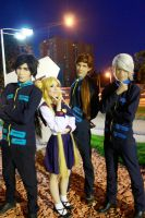 Usagi Tsukino Seiya Taiki and Yaten Kou Cosplay by SailorMappy