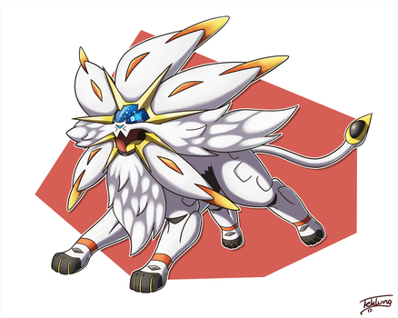 Day 26: Favorite Legendary - Solgaleo by Fehlung