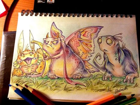 The time for colored pencils :D by Chestersan