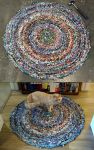 Scrap Fabric Rug: Complete! by flufdrax