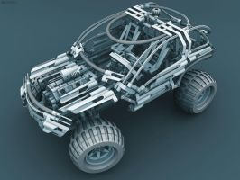 Lego 4x4 OffRoader 8466 by pixelquarry