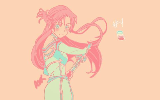 Color Palette meme- Asuna #4 by BlindedThunderfall