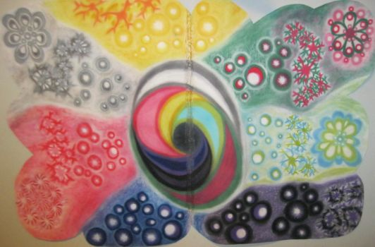 Experimental Drawing and Painting Project #9 by Winter-Colorful