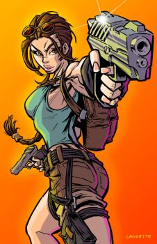 Lara Croft by MikeLancetteArt