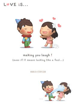 Love is Making you laugh (ver.2) by hjstory