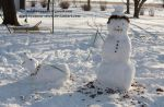 Snowman and His Dog by deathbycanon-stock