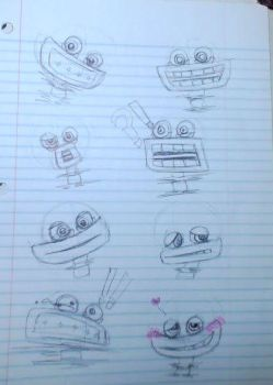 My Singing Monsters- R. Wubbox expression sketches by ShylylavenDER