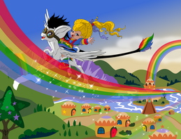 Lightning Bliss and Rainbow Brite by Lightning-Bliss