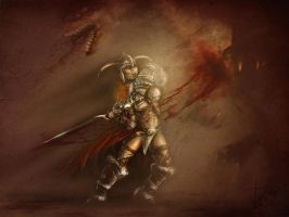 Female barbarian by TheOutcast1821