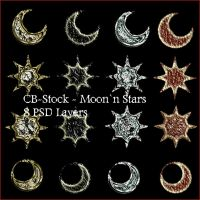 CB-Stock Moon and Stars by CB-Stock