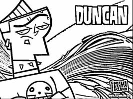 duncun coloring pages | noodle cosplay mask by Kofu35 on DeviantArt