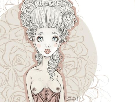 A quick rococo thingie by theLusciousDollmaker