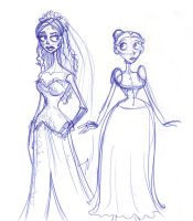Vying Brides-To-Be by kuabci