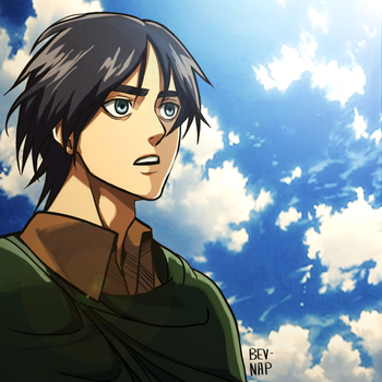 Long Haired Eren (Animation Style) by Bev-Nap