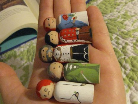 Princess and the Pea dolls 2 by Charis