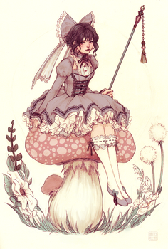 Toadstool Fairie by yasa-hime