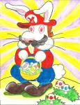 Easter Bunny Mario 2011 (2011) by MugenPlanetX