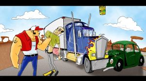 Truck Fight by Lairon