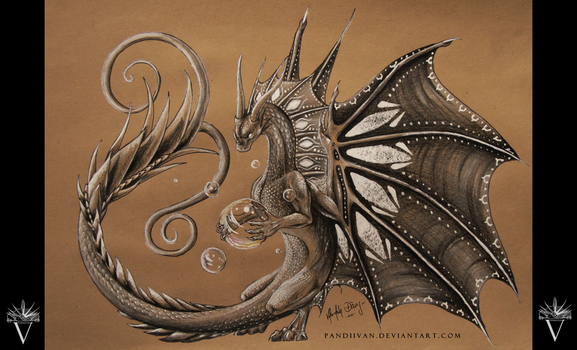 Pencil Dragon #07 by PandiiVan