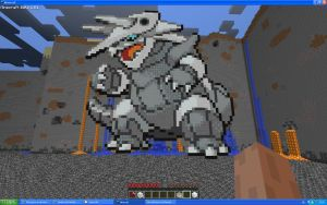 Aggron On Minecraft by Miccopicco