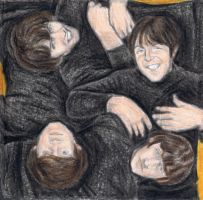 The Beatles on the floor by gagambo