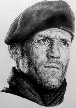 Jason Statham Expendables poster by Damyanov