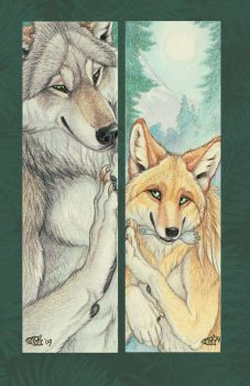 Osrik and Yote Bookmarks by Goldenwolf