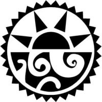 Aztec-Tribal Sun and Sea by gridlockd