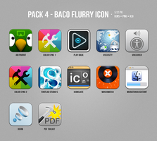 Pack 4 - Baco Flurry Icons Style by myBaco