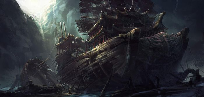 chinese ship by arui001