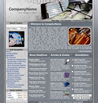 Financial Website Template by man1c-m0g