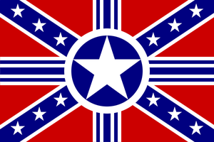 American Confederate Combine Flag by BullMoose1912
