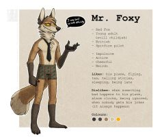 Mr. Foxy Reference Sheet by Illusir
