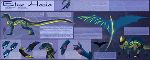 Ref Sheet Comish - Blue Hasia by TwilightSaint