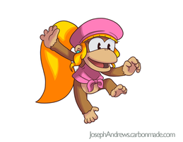 Dixie Kong by Fighterjoe