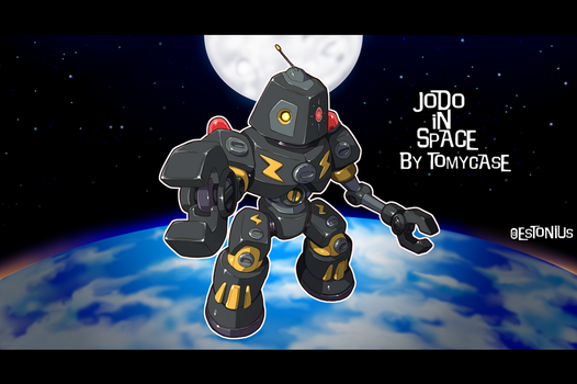 Space Droid: Jodo Hirzx - He's A Droid, In Space! by Estonius