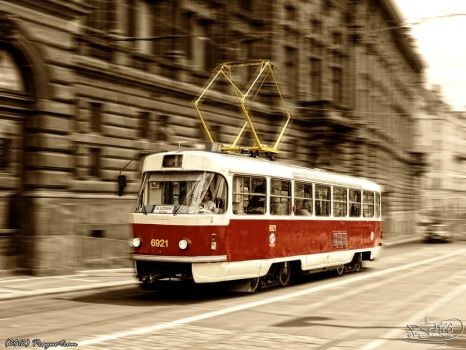Prague tram by PaSt1978
