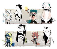 [CLOSED] ADOPT AUCTION 92 - Shadowmonster by Piffi-sisters
