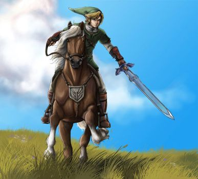 Link and Epona by Horseyperson