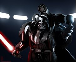 Emperor Power (WH40k style Darth Vader) by TheMaestroNoob
