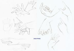 Hands Practice by SajoPhoe