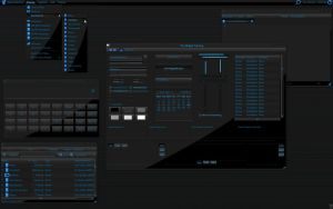 Black and Blue gtk2x by monkeymagico