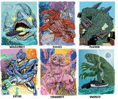 Colossal Kaiju Combat SPN 2 Trading Card Samples 5 by fbwash
